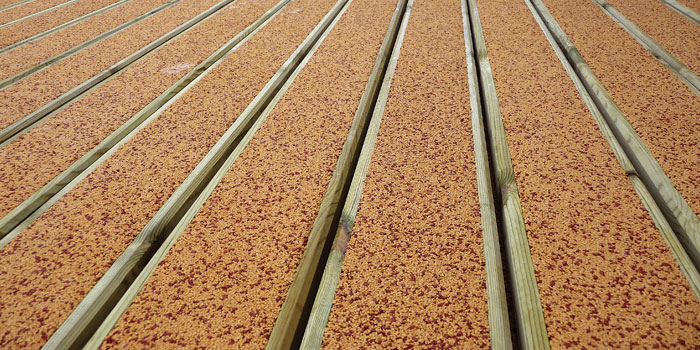 Anti slip timber decking boards from rubadeck for Non wood decking material